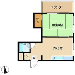 兵庫県神戸市垂水区日向2丁目の賃貸マンションの間取り