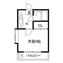 ハイツシオン[1階]の間取り