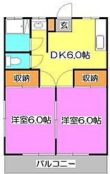 神宝コーポ[2階]の間取り