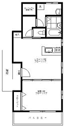窪田マンション[301号室]の間取り