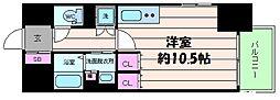 レジェンドール心斎橋東[13階]の間取り