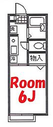神奈川県横浜市神奈川区上反町2丁目の賃貸アパートの間取り
