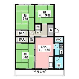 丸ノ内コーポ[4階]の間取り