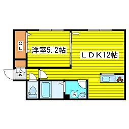 北海道札幌市東区本町二条2丁目の賃貸アパートの間取り