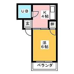 太国レジデンス[4階]の間取り