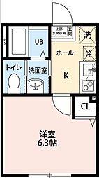 勝田台PDI、II[1104号室]の間取り