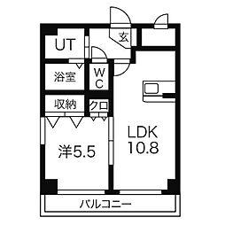 愛知県名古屋市緑区鳴海町字杜若の賃貸マンションの間取り