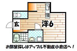 Hattori Apartment[1階]の間取り