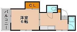 シティ美野島[2階]の間取り
