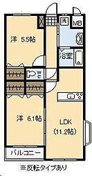 (賃)Maison de 太陽[4階]の間取り