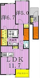 ストロベリーカーサVIII-2[2階]の間取り