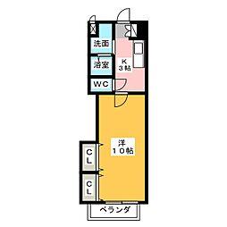 ウィンハイツ勝川[3階]の間取り
