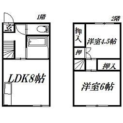 [一戸建] 静岡県浜松市東区有玉西町 の賃貸【/】の間取り