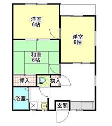 伊平次アパート[202号室]の間取り