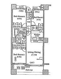 ザ・レジデンス本牧 横浜ベイサイド[5階]の間取り