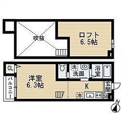 マイスター千葉中央[2階]の間取り