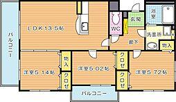 グレイス早川[3階]の間取り