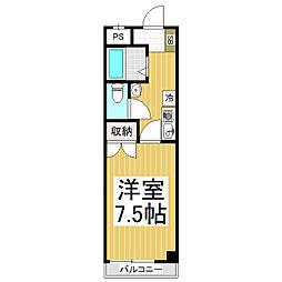 ラピッズ・セブンビル[3階]の間取り