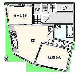 東京都杉並区荻窪5丁目の賃貸マンションの間取り