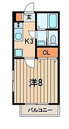 グレイス戸塚(グレイストツカ)[2階]の間取り