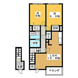 ポラリスVI[2階]の間取り