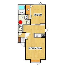 ステージ432[105号室]の間取り