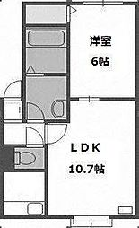 北海道札幌市手稲区曙三条3丁目の賃貸アパートの間取り