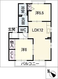 ピュアタウン花園I[2階]の間取り