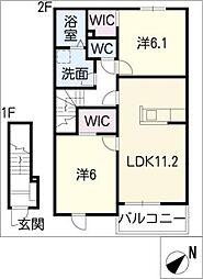 メゾン藤沢I[2階]の間取り