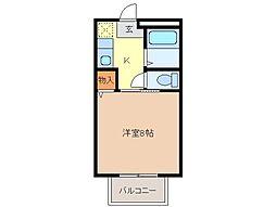 静岡県富士市荒田島の賃貸アパートの間取り