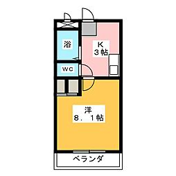 カムトゥルー[2階]の間取り