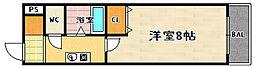 WAVE-K2(ウェーブケーツー)[203号室]の間取り