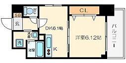 KDXレジデンス難波南[4階]の間取り