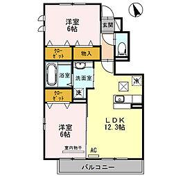 雅 Miyabi N[105号室]の間取り