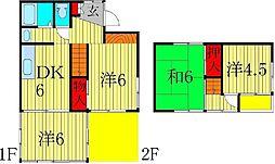 [一戸建] 千葉県柏市南増尾2丁目 の賃貸【/】の間取り