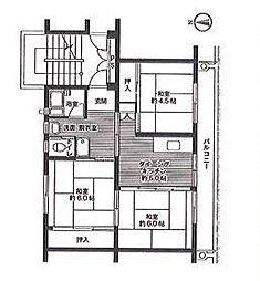 ビレッジハウス佐賀 1号棟[303号室]の間取り