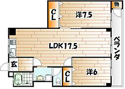 第5共立マンション[4階]の間取り