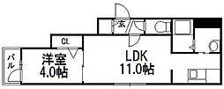 リヒトラーレ 菊水[3階]の間取り