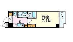 Osaka Metro四つ橋線 肥後橋駅 徒歩5分の賃貸マンション 9階1Kの間取り