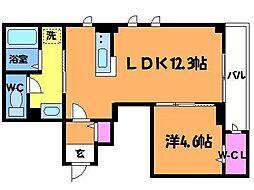 東京都世田谷区南烏山3丁目の賃貸マンションの間取り