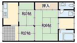 高野アパート 大宮[2号室]の間取り