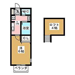 クレアフォーチュン畳屋丁[2階]の間取り