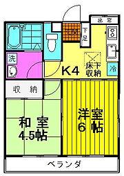 コーポ大楽寺[102号室号室]の間取り