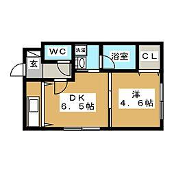 ブランノワール発寒610[4階]の間取り