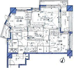 クレッセント麻布ビュータワー[7階]の間取り