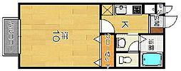 アムール西桂[1階]の間取り