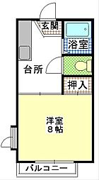 メゾンソレイユ高野[1階]の間取り