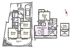 A区画 建物参考プラン:間取り/4LDK、延床面積/92.32m2、建物参考価格/1114万円(税込)