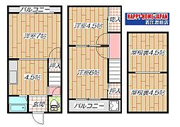 [一戸建] 大阪府東大阪市新池島町1丁目 の賃貸【/】の間取り