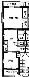 バロール上板橋[3階]の間取り